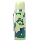 Stainless Steel Vacuum Flask Bottle - Camouflage Green (500ml)