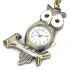 Antiquing Cartoon Owl Style Pocket Watch with Chains - Bronze (1 x 377S)