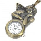 Antiquing Cartoon Angel Style Pocket Watch with Chains - Bronze (1 x 377S)