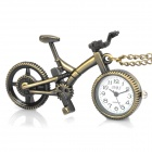 Antiquing Cartoon Bicycle Style Pocket Watch with Chains - Bronze (1 x 377S)