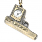 Antiquing Cartoon Gun Style Pocket Watch with Chains - Bronze (1 x 377S)