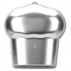 Cute Cup Cake Style Aluminum Alloy Cup Pan - Silver