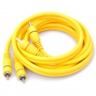 2-Port RCA Male to 2-Port RCA Male Audio Connection Cable - Yellow (153cm-Length)