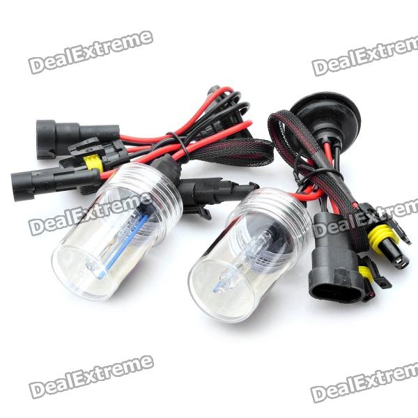 9006 35W 8000K 3200LM HID Bluish White Light Xenon Headlamps (DC 12V / Pair)