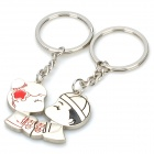 Sweet Lovers Figures Zinc Alloy Keychain