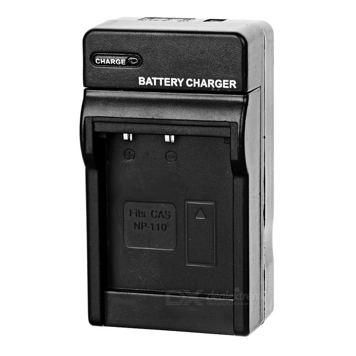 Camera Battery Charger Cradle for Casio NP-110 (AC 100~240V / 2-Flat-Pin Plug)
