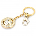 Honda Logo Style Keychain with Compass - Gold