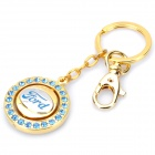 Ford Logo Style Keychain with Compass - Gold