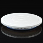 Revolving Cake Stand for Caking Decoration - White + Blue (Low)