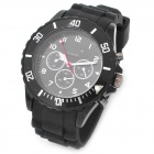 Designer's Fashion Silicone Band Wrist Watch - Black (1 x SR626SW)