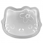 "Cute 8"" Hello Kitty Style Iron Cake Plate Mold - Silvery Grey"