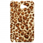 Protective Furry Leopard Skin Style Back Cover Case for Samsung i9220 - Coffee Yellow