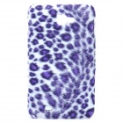 Protective Plush Cloth + Plastic Back Case for Samsung i9220 - Purple Leopard