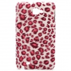 Protective Furry Leopard Skin Style Back Cover Case for Samsung i9220 - Deep Pink
