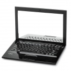 Creative Sony Laptop Notebook Style Mini Cosmetic Makeup Pocket Mirror - Black
