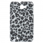 Protective Plush Cloth + Plastic Back Case for Samsung i9220 - Grey Leopard