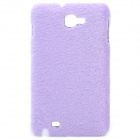 Protective Plush Cloth + Plastic Back Case for Samsung i9220 - Purple