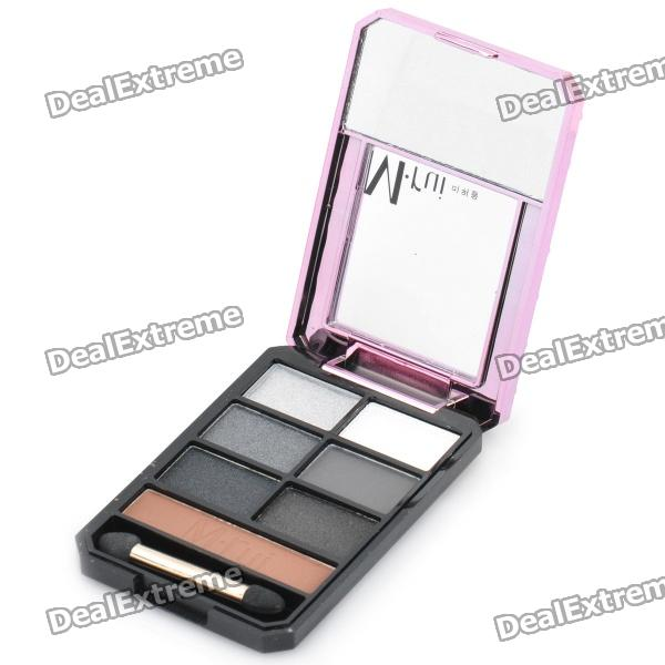 M.rui Portable Cosmetic Make-Up 7-Color Eye Shadow Kit hot sale 2016 soft beauty woolen 24 pcs cosmetic kit makeup brush set tools make up make up brush with case drop shipping 31