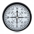 Outdoor Camping Travel Portable Compact Compass - Black + White