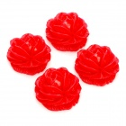 DIY Resin Rose Flower Cabochons for Cell Phone Decoration / Jewelry Making - Red (M-Size / 4-Piece)