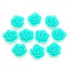 DIY Resin Rose Flower Cabochons for Cell Phone Decoration/Jewelry Making - Green (S-Size / 10-Piece)