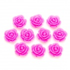 DIY Resin Rose Flower Cabochons für Handy Schmuck / Schmuck machen - Pink (S-Size/10-Piece)