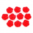 DIY Resin Rose Flower Cabochons for Cell Phone Decoration / Jewelry Making - Red (S-Size / 10-Piece)