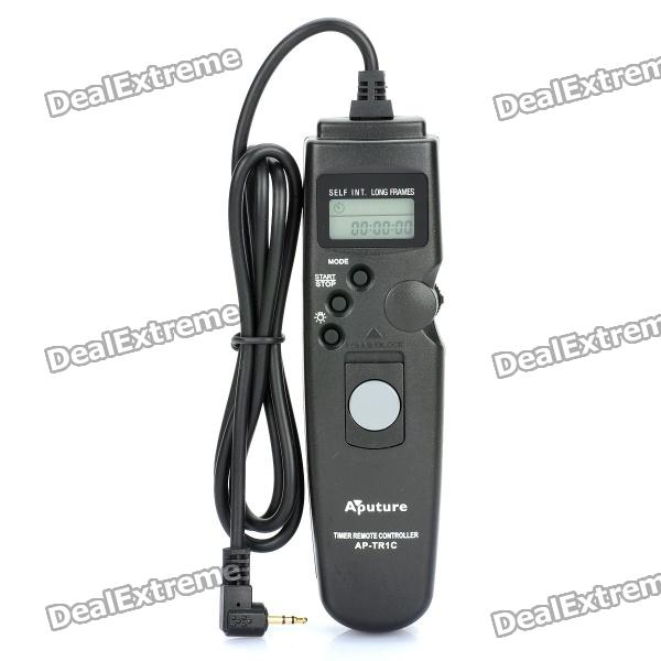 APUTURE 1.0 LCD Wired Timer Remote Shutter Release for Canon EOS 1100D / 60D + More (1 x CR2032) 1 lcd wired timer remote shutter release for canon eos 1ds mark ii more 1 x cr2025