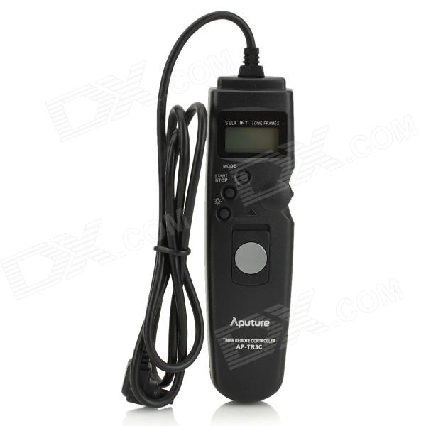 APUTURE 1.0 LCD Wired Timer Remote Shutter Release for Canon EOS 1DX / 7D / 50D + More (1 x CR2023) 1 lcd wired timer remote shutter release for canon eos 1ds mark ii more 1 x cr2025