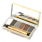 Cosmetic Makeup 6-Color Eye Shadow Kit with Smudger - Golden