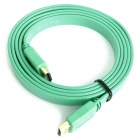 Full HD 1080P HDMI Male to Male Flat Cable - Green (1.5M-Length)