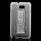 Protective PC Back Case with Stand Holder for Samsung i9220 - Transparent White
