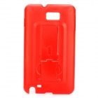 Protective PC Back Case with Stand Holder for Samsung i9220 - Red