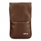 ROCK Anti-Radiation Protective Leather Case Pouch Bag w/ Lanyard for Iphone/Cell Phone - Coffee (S)
