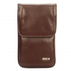 ROCK Anti-Radiation Protective Leather Case Pouch Bag w/ Lanyard for Iphone/Cell Phone - Coffee (L)