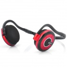 Bluedio TF600 2.4GHz Bluetooth V2.1 MP3 Player Handsfree Headset w/ TF Slot - Black + Red