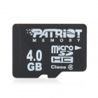 Patriot CLASS 4 Micro SD / TF Card - Black (4GB)