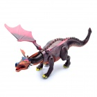 Cool Fire Fiery Dragon Action Figure Toy with Sound Effect / Red Light (3 x AA)