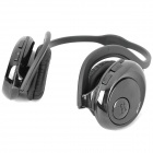 Rechargeable MP3 Player Stereo Headphone with TF Slot - Black