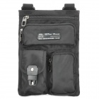 Outdoor Zipper Nylon Fabric Waist / Leg Bag - Black