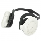 Rechargeable MP3 Player Stereo Headphone with TF Slot - White