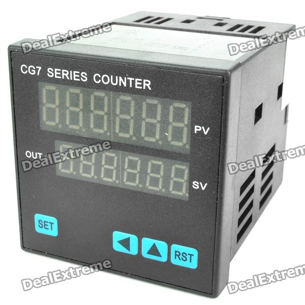 CG7 Digital Counter (AC 110~220V) dh48ja 1 999900 count up digital counter relay w base ac 220v 50 60hz