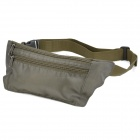 Outdoor Zipper Nylon Fabric Waist Bag - Army Green