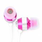 Designer's Stereo Earphone - Rosy + White (3.5mm Jack / 128cm-Cable Length)