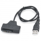 SATA to USB 2.0 Adapter Cable - Black (MCB836 / 40CM-Cable Length)
