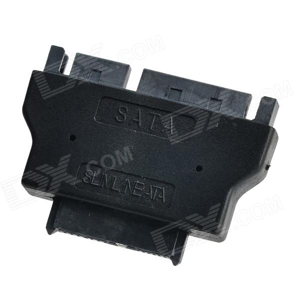 SATA 6+7 Pin to Micro SATA 7+15 Pin Adapter Module - Black
