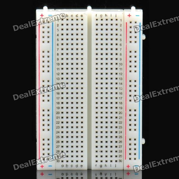 400 Tie Points Prototype Solderless Breadboard - White