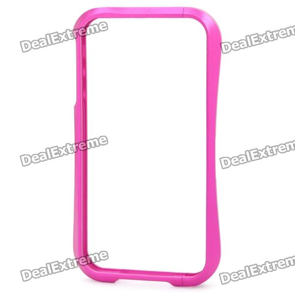 Stylish Protective Aluminum Alloy Bumper Frame Case for iPhone 4 / 4S - Deep Pink
