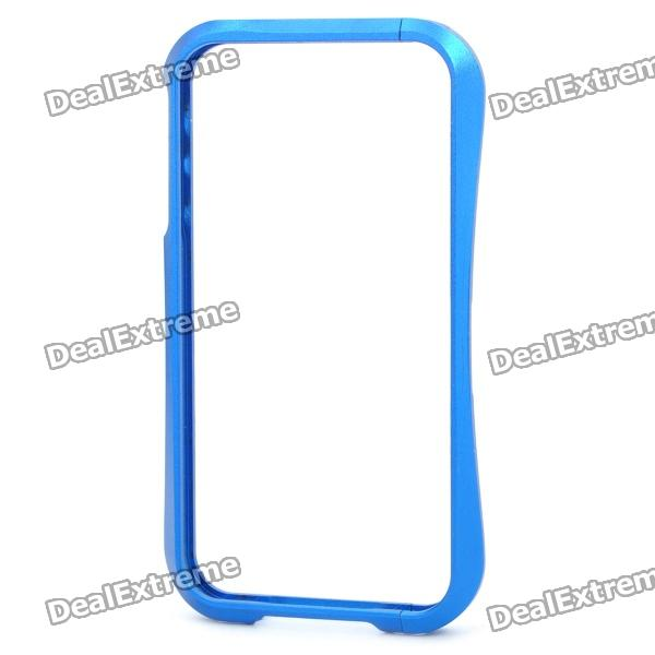Stylish Protective Aluminum Alloy Bumper Frame Case for iPhone 4 / 4S - Blue