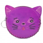 Cute Cat Style PU Leather Wallet Purse (Random Color)